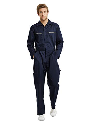 TOPTIE Men's Action Back Coverall w/Zipp...