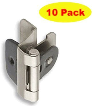 Amerock 8701-G10 1/4-inch (6mm) Overlay Double Demountable Cabinet Hinge, Satin Nickel - 10 Pair (20 Units)