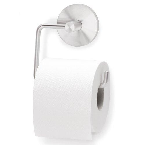Blomus Toilet Paper Dispenser Primo, Toilet Paper Holder, incl. Installation Material, Matt Stainless Steel, 68397