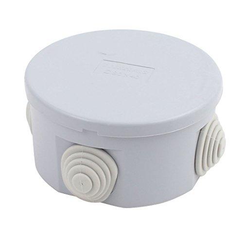 Amazon.com: eDealMax Gris ABS IP55 a prueba de agua del recinto de la Forma Redonda caja de conexiones DE 80 mm x 40 mm: Electronics