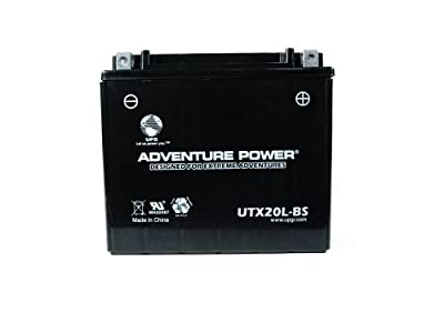 UPG 43031 - OEM YTX20L-BS - Motorcycle Battery - Dry Charge AGM - 12 Volt - 18 Ah Capacity - D Terminal