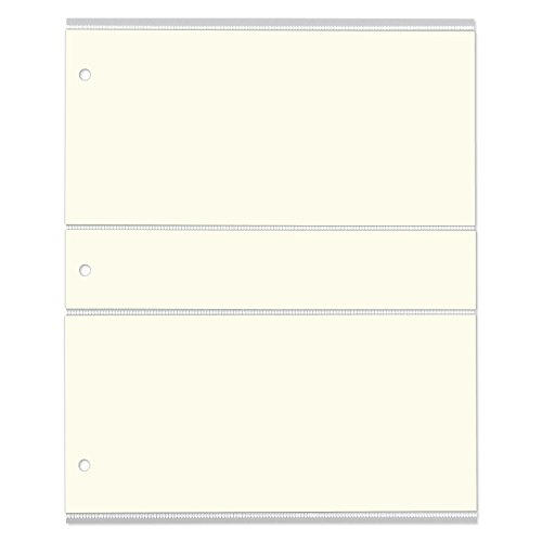 Gallery Leather Classic Album Refills for 3 X 5, 4 X 6 and 4 X 7 Photos with Memo and Negatives Insert
