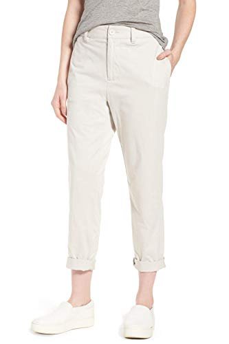 James Perse Women's Full Surplus Cotton Jersey Pants, Talc White ()
