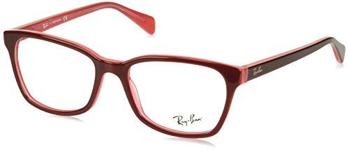 Ray-Ban RX5362 Square Eyeglass Frames, Dark Pink/Demo Lens, 52 ()