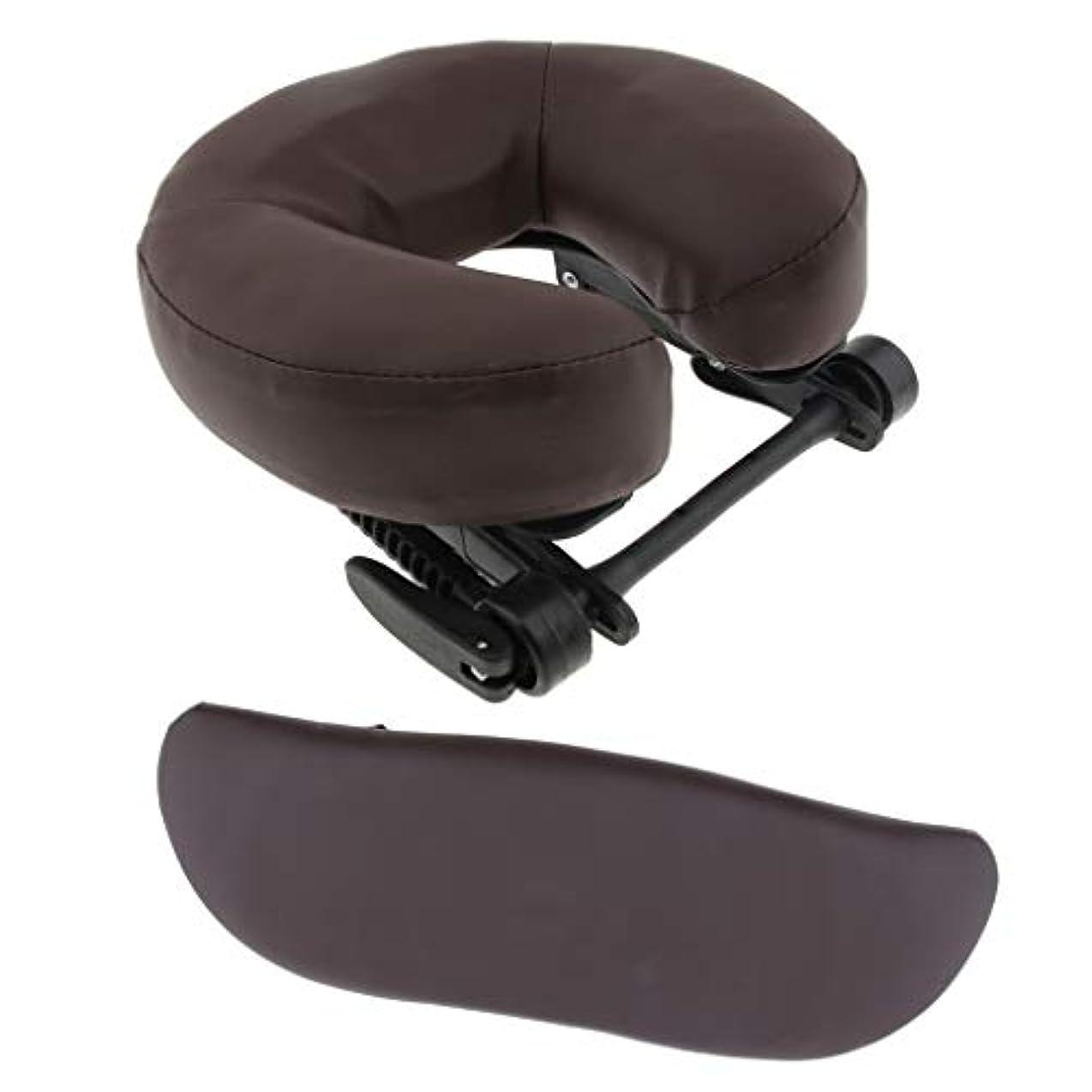 むしろリフトハッチFLAMEER マッサージ用クッション サポートピロー 枕 サロン エステ 調整可 3色選べ - 褐色