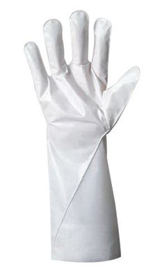 Ansell Size 7 White Barrier 380 - 410 mm Non-Woven Lined 2.5 mil Five Layer Laminated Film Hand Specific Chemical Resistant Gloves