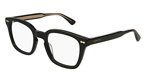 Gucci GG 0184O 001 Black Plastic Square Eyeglasses 50mm