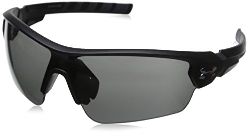 Under Armour Rival Sunglasses Shield, Satin White/Charcoal Gray, 42 mm