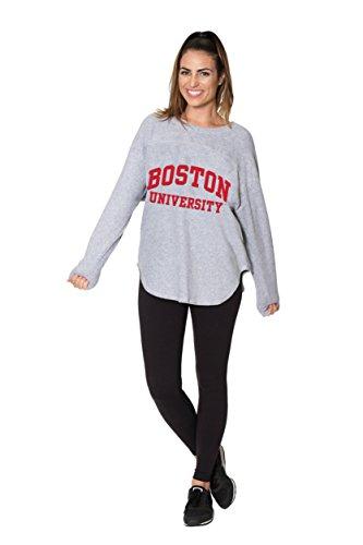 Flying Colors Women's Boston University Ultimate Fan Sherpa Jersey (Heather; Medium)