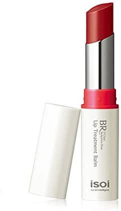 isoi Bulgarian Rose Lip Treatment Balm (Pure Red), 5g (0.18 oz) - Long-Lasting Moisturizing Plumpy Natural Tinted Color Lip Balm For Dry Cracked Lips