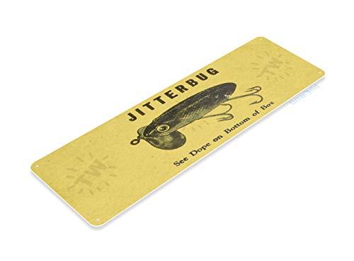 Tinworld Tin Sign Jitterbug Lure Retro Rustic Fishing Fish Bait Tackle Marina Shop Metal Sign Decor B828