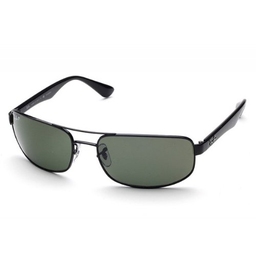 690d9b3f2ce New Ray Ban RB3445 002 58 Black Crystal Green Lens 61mm Polarized  Sunglasses  Amazon.co.uk  Shoes   Bags