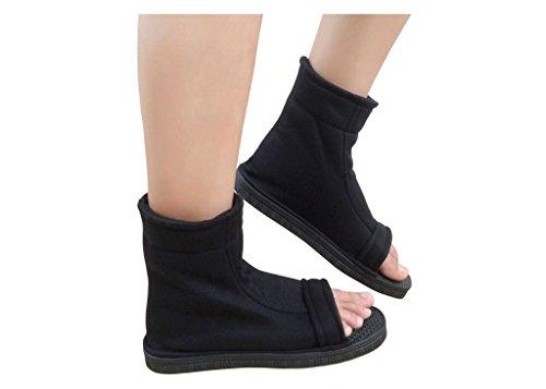 DAZCOS Black Shippuden Ninja Shoes [US 5 - US 11] [ Adult/Child ] (Men US - Cosplay Warehouse