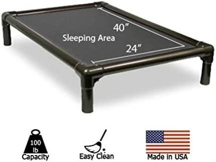 Kuranda Dog Bed – Chewproof Design – Walnut PVC – Indoor – Elevated – High Strength PVC – Easy to Clean – Dries Quickly – Heavy Duty Vinyl Fabric