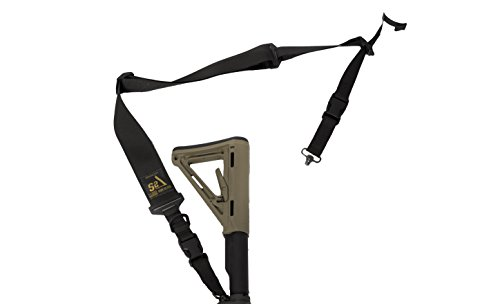 (S2Delta - USA Made 2 Point Rifle Sling, Quick Adjustment, Modular Attachment Connections, Comfortable 2