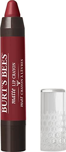 Burt's Bees 100% Natural Origin Moisturizing Matte Lip Crayon, Redwood Forest – 1 Crayon