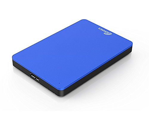 Sonnics 750GB Blue External pocket Hard drive USB 3.0 super fast transfer speed for use with Windows PC, Apple Mac, XBOX ONE and PS4