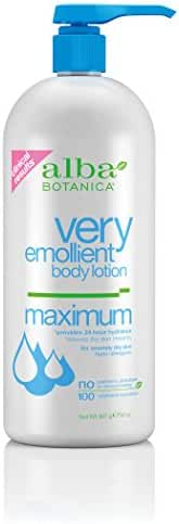 Alba Botanica Very Emollient Body Lotion, Maximum, 32 Ounce