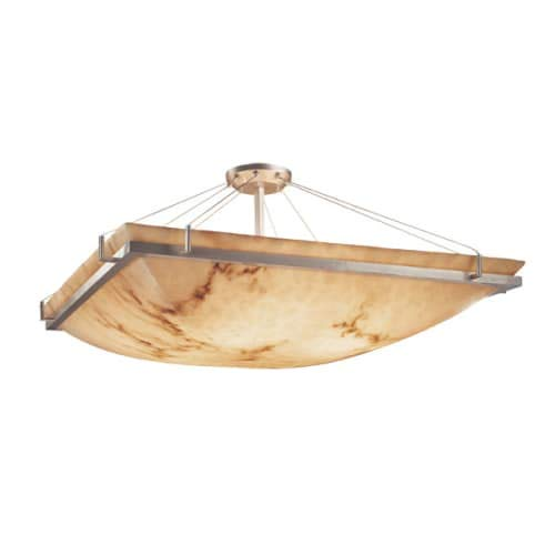 Justice Design Group FAL-9782-25-NCKL LumenAria Collection Square Semi-Flush Bowl with Ring, 24