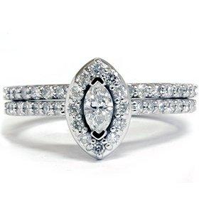Amazon.com: .90CT Fancy Marquise Diamond Engagement Ring