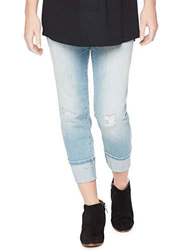 (Motherhood Secret Fit Belly Cuffed Crop Maternity Jeans)