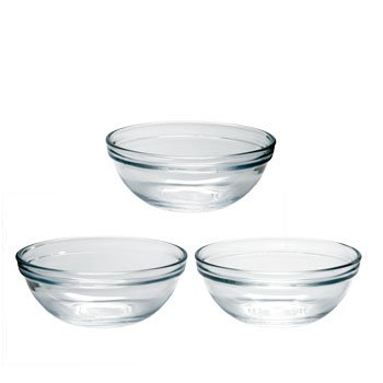 3-Pack Small Prep Bowls, 4-inch diameter