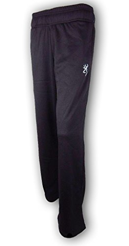 (Browning Mens Performance Pant Black Lined Athletic Sweat Pants Size Medium)