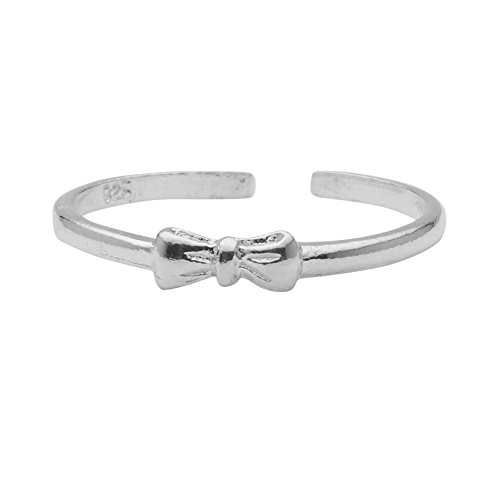 High Polished Sterling Silver Bow Tie Toe Ring by Kezef Creations