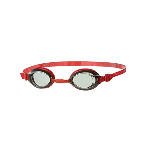Speedo Unisex Jet Junior Goggles, Red/Smoke, One Size