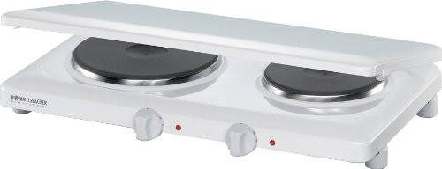 THL Double Hot Plate in White with Cover