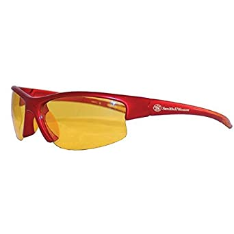 Jackson Safety 21299 Equalizer Safety Eyewear Red Nylon Frame One Size Amber Polycarbonate Anti-Scratch Lenses