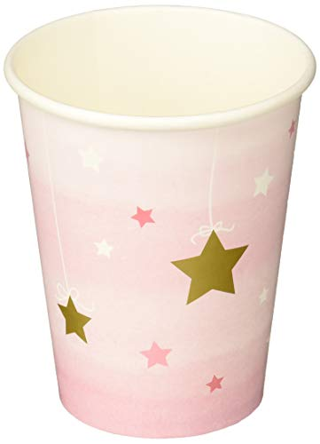 Creative Converting 322254 Twinkle Little Star Paper Cups Party Supplies, 9 oz, Multicolor
