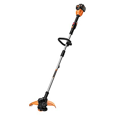 "Worx WG184 2x20V (2.0Ah) 13"" Cordless Grass Trimmer/Edger with in-Line Edging, and Command Feed"