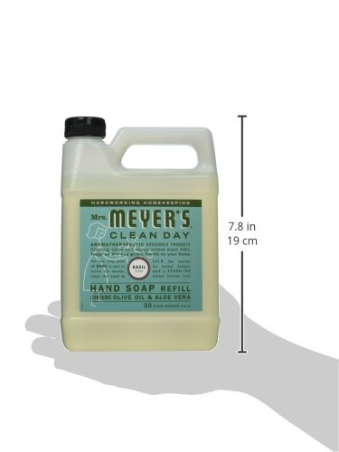 Large Product Image of Mrs. Meyer's - Liquid Hand Soap Refill, Basil - 33 Ounce