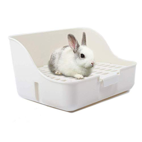Md trade Square Potty Trainer Corner Litter Bedding Box Pet Pan for Small Animal/Guinea...