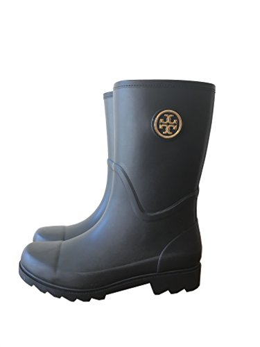 Tory Rainboots 8 Rubber Veg Burch Maureen Black Leather AznvTzr