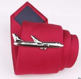 Dabixx 1 pi/èce Pince /à Cravate pour Homme Pinces /à Cravate pour Hommes /él/égants pendentifs /à Cravate pour Cadeaux de Noces dargent Avion Argent