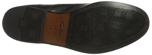 Clarks Step Para Corfield Negro Hombre Leather black Mocasines 44raw1Zq