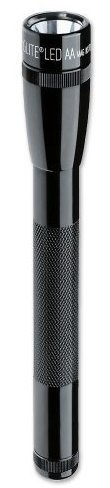 Maglite 2 AA Black LED With Nylon Sheath Long Lasting 3 Watt Bulb Batteries Included