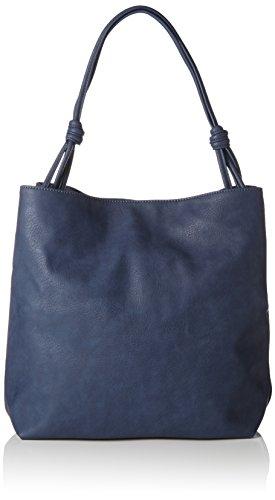Esprit 087ea1o017 Women's Tote grey Blue Blue ffqrwFp