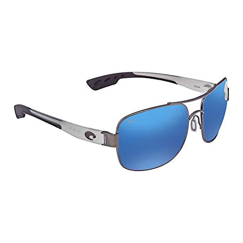 Costa Del Mar Cocos 580P Cocos, Gunmetal with Crystal Temples Blue Mirror, Blue Mirror ()