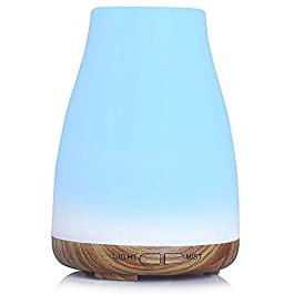 Aromatherapy diffusers, 150ml Essential Oil Diffuser Aroma Diffuser with Colorful LED Lights, Ultrasonic Cool Mist…