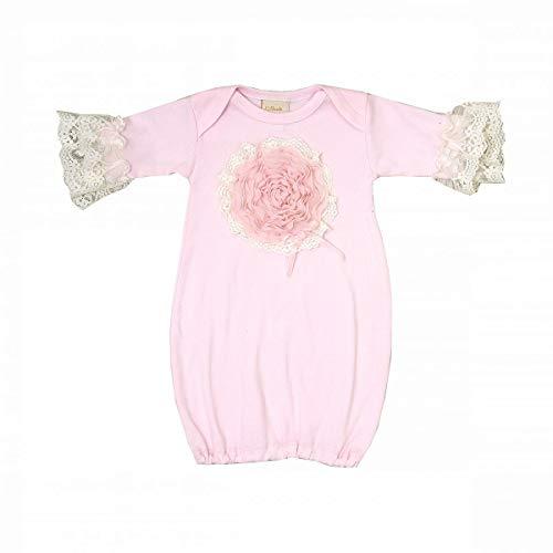 (Haute Baby Newborn Girls' Take-me-Home Set 0-3 Months Pink Lullabye (0-3 Months))