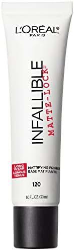 L'Oreal Paris Makeup Infallible Pro Matte-Lock Longwear Mattifying Face Primer, 1 ounce
