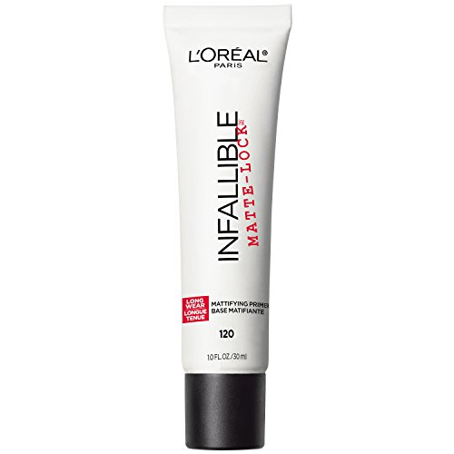 L'Oreal Paris Makeup Infallible Pro Matte-Lock Longwear Mattifying Face Primer, 1 ounce