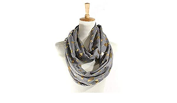 Autumn Winter Scarf Women Bronzing Gold Feather Infinity Fashion Long Cotton