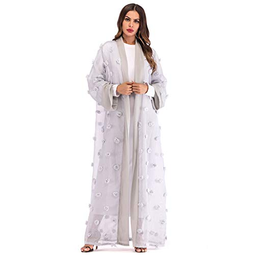 Leisuraly Muslim Women Lace Sequin Cardigan Maxi Dress for sale  Delivered anywhere in USA