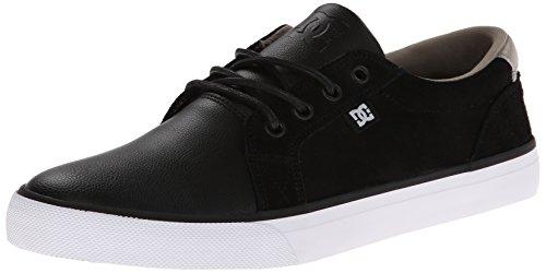 DC Council LE Herren Schwarz Leder Skate Schuhe Gre Neu EU 46