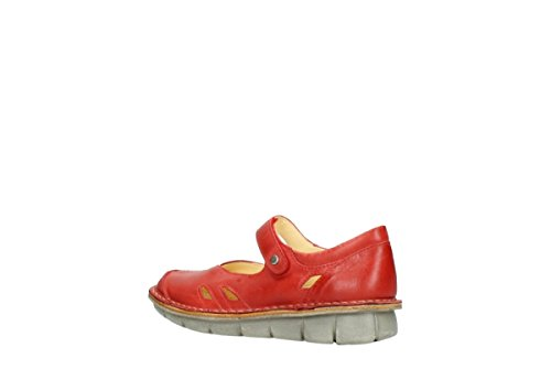 30500 Cuir Cordoba Wolky À Chaussures Comfort Bride Rouge wOASqYXa