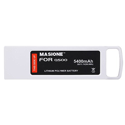 Masione 3S 5400mAh 11.1V LiPo Battery with Charging Protection Genuine Parts Guarrantee Extra Flight Time for Yuneec Q500,Q500+,Q500 4K,Typhoon G Drone RC Quadcopter